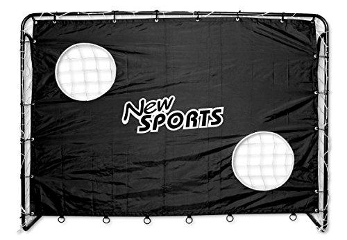 The Toy Company New Sports Fußballtor und Torwand, 213x152x76cm, schwarz