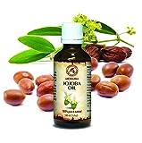 Jojoba Öl Gold Native, reines - naturreines Jojobaöl 100ml, Glasflasche, Argentinien, Intensive Pflege für Gesicht, Körper, Haare, für Massage - Körperpflege, von AROMATIKA