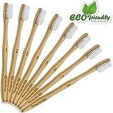 MitButy Bambus Zahnbürste [8er-Packung] weiche Borsten & einzeln nummeriert, nachhaltige Bambus Holzzahnbürsten | 100% natürlich, umweltfreundlich, vegan, biologisch abbaubar, recycelbar