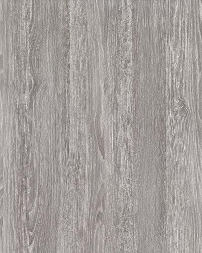 alkor DecoDesign F3800101 Selbstklebefolie, Folienmaß 45 x 200 cm, Dicke 0,11 mm, grau