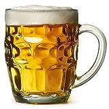 Bierkrug - Der tolle britische Noppenkrug 0.5 Liter - 4er-Packung | bar@drinkstuff Noppenkrüge, Pint-Krüge, Pint-Kannen, Noppenkrüge, Glaskannen | Traditionelle Glas-Pintkannen | Genoppte Bierkannen | Oktoberfest, Becher Bierglas / Bierkrug