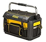 Stanley FatMax Werkzeugtrage / Werkzeugtasche mit Schutzhaube (49x31x28cm, Tasche aus 600 Denier Nylon, wasserdicht und schlagfest, robuste Trage mit vielen Innentaschen) 1-79-213