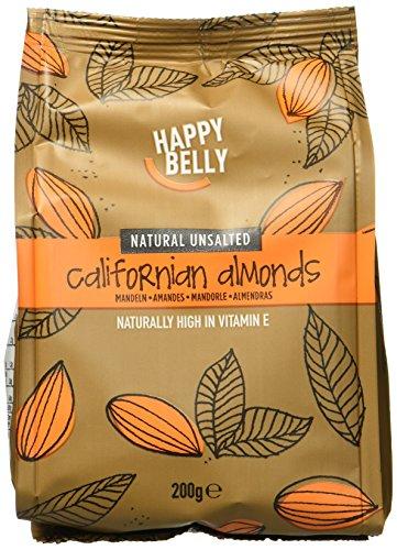 Amazon Marke - Happy Belly Ganze Mandeln, 7x200 g