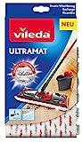 Vileda UltraMat, 10919, Ersatzbezug für saubere und streifenfreie Böden, Mehrfarbig