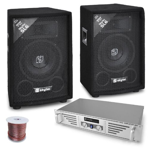 DJ-PA Komplett-System Rookie (480W Verstärker + 2x 600W PA Boxen, Mischpult)