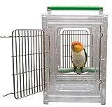 Sitzstange und Go klare Sicht Vogel Carrier und Reisen Käfig