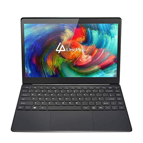 LincPlus 13.3' FHD Laptop Neueste Intel Celeron 4GB+32GB Bis zu 512 GB durch SSD Fanless Deutsches Tastatur Notebook 5G WiFi Windows 10 Dünnes und Leichtes Ultrabook MEHRWEG