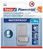 tesa Zahnbürstenhalter, wasserfest für Dusche und Bad, Metall, wieder ablösbar