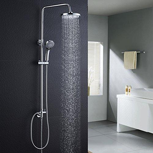 BONADE Duschset ohne Wasserhahn Regendusche Duscharmatur Duschsystem mit Duschkopf und Handbrause Shower Set für Badezimmer Kupfer Dusche, Höhenverstellbar 88-126 cm