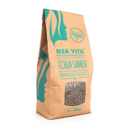 MeaVita Chia Samen Top Qualität aus Südamerika, 1000g