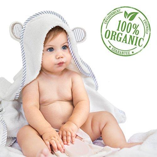 Baby-Handtuch mit Kapuze aus Bio-Bambus – Weiches Badetuch mit Kapuze für Babys, Kleinkinder – hypoallergen - großes Baby-Handtuch - Geschenk für Jungen und Mädchen von San Francisco Baby