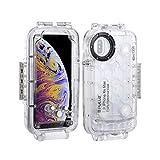 Docooler PULUZ Tauchen Unterwassergehäuse Phone Case Smartphone-Schutzhülle Stoßfestes Gehäuse 360 ° Vollschutz für i-Phone XS Max/XR