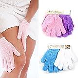 dealglad 4Paar Dusche Peeling Waschen Haut SPA Schaumstoff Bad Handschuhe Massage Luffa Scrubber