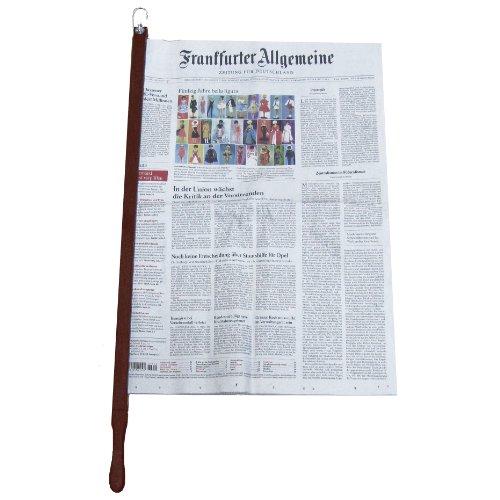 Zeitungshalter Zeitungsstock Pronto Nussbaum dunkel max. 60cm Einspannlänge