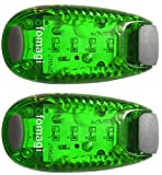 fomagi 2X Hunde Leuchtanhänger Sicherheits Clip-On LED Blinklicht (Grün)