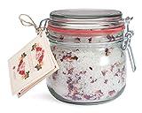 Deluxe Aroma Bade-Salz mit Rosenblüten BLÜTENMEER, mineralisches Steinsalz aus Deutschland für Entspannungs-Bäder (700g)