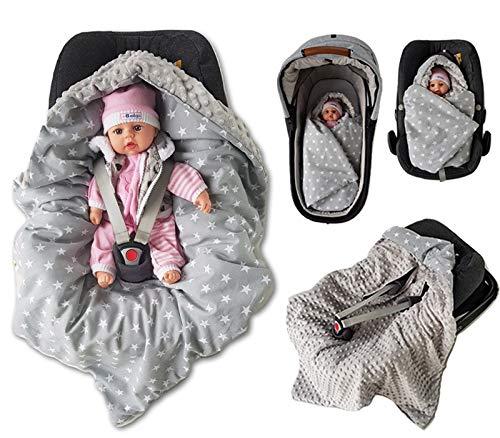Winter Einschlagdecke fur Babyschale Autositz warm Füllung Klettverschluss