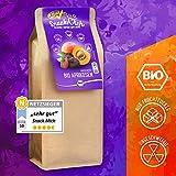 Bio getrocknete Aprikosen Früchte 1kg ohne Stein aus der Türkei (Trockenfrüchte/Trockenobst), getrocknet, ohne Zucker, ungeschwefelt, Bio und Rohkost-Qualität, sonnengetrocknet