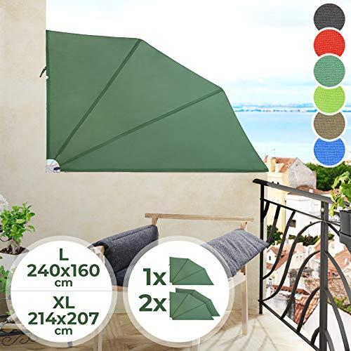 Jago Balkonmarkise | Farbwahl, in Verschiedenen Größen, 1er/2er | Seitenmarkise, Senkrechtmarkise, Sonnenschutz, Sichtschutz, Markise