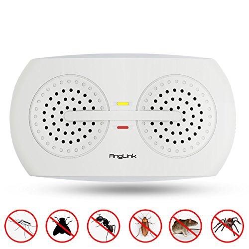 AngLink Ultraschall Schädlingsbekämpfer, Haustierfreundlich Ultraschall mit Elektromagnetische Vertreiber gegen Ratten, Mäuse, Spinnen, Ameisen und Kakerlaken für das ganze Haus