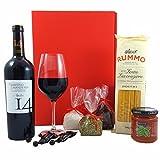 GESCHENKSET ITALIEN | Rotwein Primitivo di Manduria, Spaghetti & Pastasauce, 3x Gewürze | italienischer Geschenkkorb, Pasta-Geschenk-Set, italienische-Geschenke, italienische Spezialitäten, italienischer Geschenkkorb, Geschenkset Wein, Wein-Präsent, Geschenke für Männer, Geschenke für Frauen, Dankeschön Geschenke, Geschenke zum Einzug, Geburtstagsgeschenk, Gewürzset, Geschenkbox, Präsentkorb, Fresskorb, Männer Geschenke, italienische Feinkost