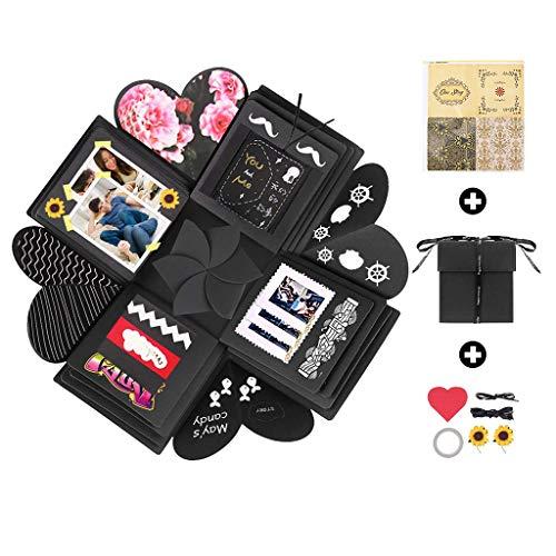 Amycute Kreative Geschenk-Box, Überraschung Box, Explosion Box, DIY Geschenk Scrapbook,Handgemachtes Scrapbook für Hochzeit Geburtstag Jahrestag Valentine, Muttertag, Weihnachten.