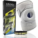 ULIMIT Kniebandage 2.0 Kniewärmer sowie Knieschützer für Männer Sport und Damen (Silber, Einheitsgröße)