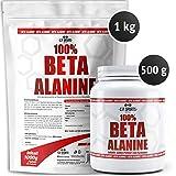 100% Beta Alanine Pulver rein, Powder pure, hochdosiert, C.P. Sports, Beta Alanin (500g)