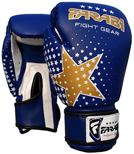 Farabi Junior Starlux - Handschuh-Serie für die Jugend - für Kinderboxen, gemischte Kampfkünste (MMA), Muay Thai, Kickboxen-Training, Sparring-Schlagsack
