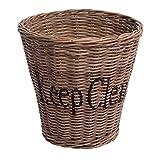 Papierkorb Keep Clean Natur Rattankorb Rattan Flechtkorb