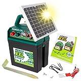 VOSS Power XXL B 9.000-S | Solar-Weidezaungerät 9V/12V | Megapower zum Kampf-Preis | Hocheffektives Solarmodul | Perfekt für Pferde & Ponyzaun