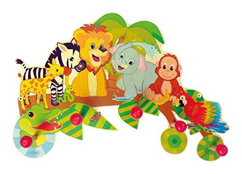 Hess-Spielzeug 30305 - Garderobe Dschungel aus Holz, ca. 40 x 24 cm