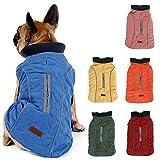 TFENG Reflektierend Hundejacke für Hunde, Hundemantel Warm gepolstert Puffer Weste Welpen Regenmantel mit Fleece