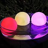3er Set Wasserdichte LED Schwimmkugel Leuchtkugel Kugel Stimmungslicht für Badewanne Pool 8 cm von PK Green