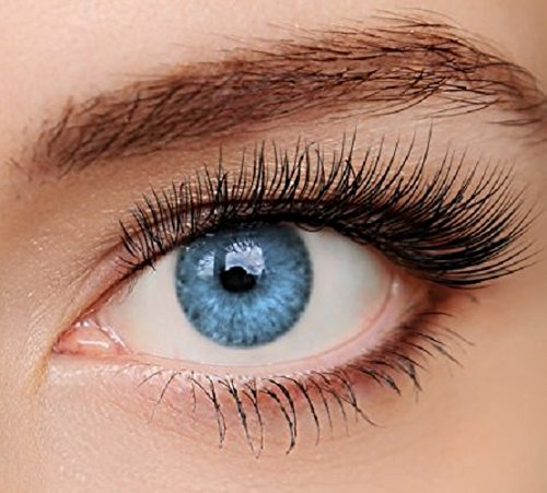 ELFENWALD farbige Kontaktlinsen, INTENSE BLAU / AZUR, natürlicher Look, maximaler Tragekomfort, ohne Stärke, 1 Paar weiche Farblinsen, inkl. Behälter und Anleitung 3 - Monatslinsen