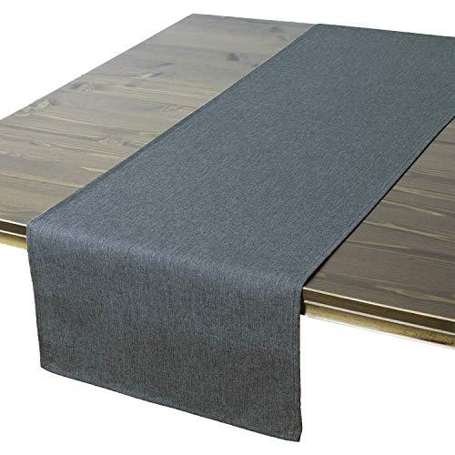 Tischläufer Wien, Anthrazit, 40x140 cm, Fleckschutz, Tischläufer für Das Ganze Jahr