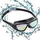 ZetHot Schwimmbrille mit großem Rahmen, Polarisierte Taucherbrillen Wasserdicht Anti-Nebel UV Schutz Triathlon Taucherbrille für Erwachsene Männer Frauen Jugend Kinder