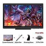 Huion KAMVAS GT-191 HD 19,5 Zoll Grafikzeichentablett-Monitor mit 8192 Druckstufen 1920 x 1080 Auflösung Stift-Display