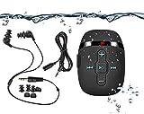 【2018 Neue Version】 HiFi Sound Wasserdicht MP3-Musik-Player Zum Schwimmen und Laufen, Unterwasser-Kopfhörer mit Kurzem Kabel (3 Arten Ohrhörer), Shuffle-Funktion