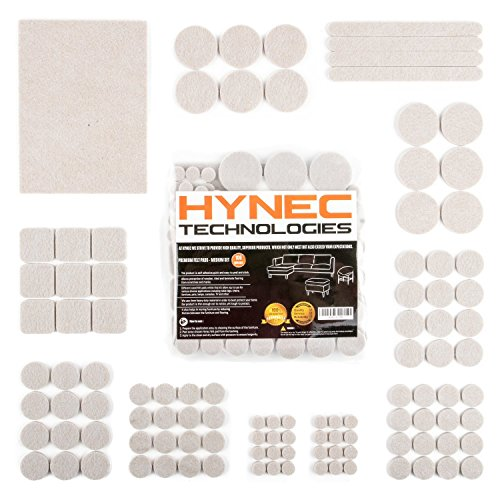 Hynec Premium Möbelschoner / Filzunterlage Mittleres Set mit 7 verschiedenen selbstklebenden Stickern aus Filz für Möbel Filzgleiter MEDIUM Set