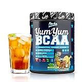 BCAA Pulver YUM YUM BCAA | Amino 2:1:1 als Aminosäuren Komplex Hochdosiert - 450 g BCAAs (Ice Tea Lemon)