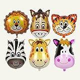 Tier Folienballon,6 Stück Party Tier Inflated Ballon für Kinder Geburtstag Party Dekoration