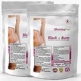 BLOCK & BURN | 250 Kapseln Vorratspackung XL | CARBBLOCKER (Kohlenhydrat-Blocker) + FATBURNER | No. 1 Ergänzung zur Gewichtsreduktion | Diät - Abnehmen | 100% natürliche Inhaltsstoffe