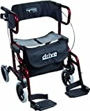 Drive Medical metallic Rollator Diamond Deluxe, rot