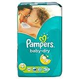 Pampers Baby-Dry 4015400625711442Stück (S) Einweg-Windeleinlagen, Universal, Windel, grün, Klettverschluss, Polybag)