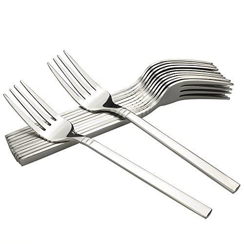 Fosly Tafelgabeln 12 Stück, Edelstahl Abendessen Gabeln, Tisch Gabeln