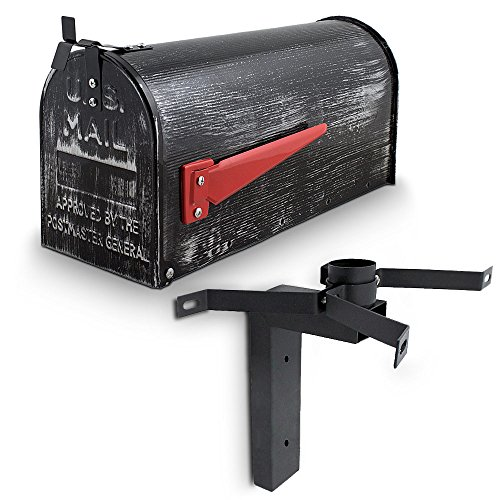 US Mailbox Amerikanischer Briefkasten Standbriefkasten Wandbriefkasten Letterbox Retrolook Inclusive Wandhalter