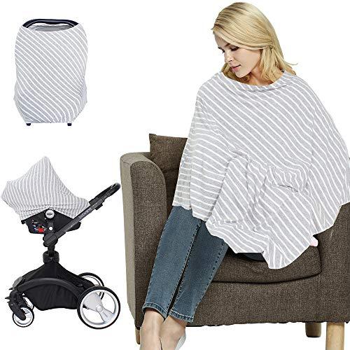LifeTree Multifunktions Stillschal Stilltuch Nursing Cover Poncho, Babyschalenbezug elastisch, ideal für unterwegs