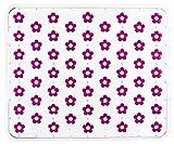 WENKO 2004030100 Spülbeckeneinlage Fleurelle Transparent Pink - Blütenmuster, Kunststoff, Pink