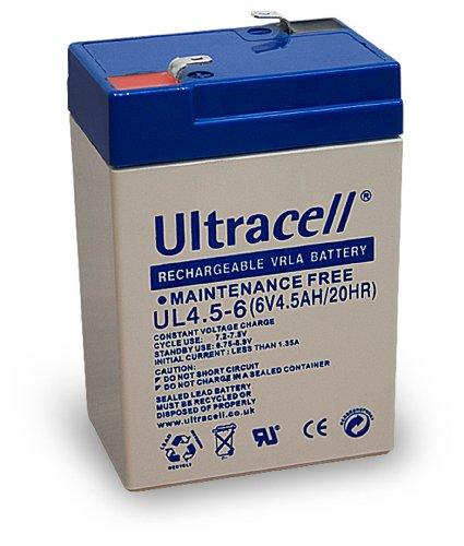 Wentronic Blei-Akku (Ultracell) 6 V, 4,5 Ah (Faston 187-4,8mm )